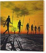 Zulu Warrior Trek Wood Print