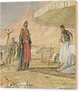 A Frank Encampment In The Desert Of Mount Sinai Wood Print