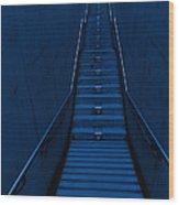A Long Narrow Flight Of Stairs Wood Print by Lawren Lu
