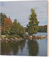 Algonquin - Canoe Lake Wood Print