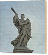 Angel With Cross. Ponte Sant'angelo. Rome Wood Print