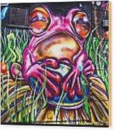 Atomic Frog Wood Print
