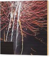 Bastille Day Fireworks Wood Print