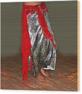 Belly Dancing Wood Print