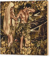 Birth Of Sin Wood Print