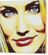 Cameron Diaz Pop Portrait Wood Print