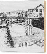 Canal Ellenville Wood Print