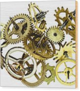 Clockwork Mechanism Wood Print
