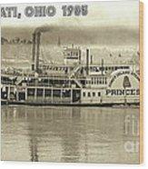 Coney Island Steamer Princess Wood Print