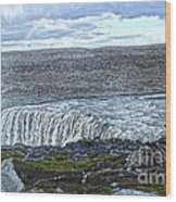 Detifoss Waterfall In Iceland - 01 Wood Print