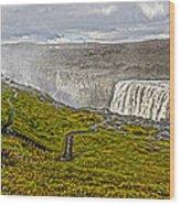 Detifoss Waterfall In Iceland - 02 Wood Print