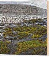 Detifoss Waterfall In Iceland - 03 Wood Print