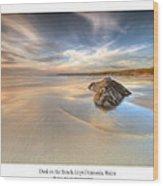 Dusk On The Beach Wood Print