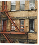 Fire Escapes - Nyc Wood Print