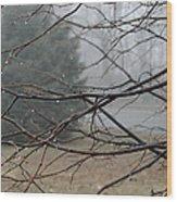 Fog Hangs Heavy Wood Print