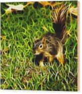 - Fractal - Pointer - Robbie The Squirrel Wood Print