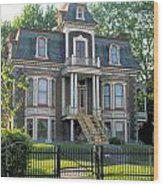 Gracious Victorian House In Montreal Wood Print
