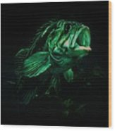 Green Fish Wood Print