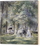 In The Park At Saint-cloud Wood Print