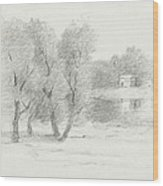 Landscape - Late 19th-early 20th Century Wood Print