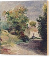 Landscape Near Cagnes Wood Print