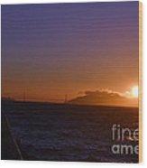 Light Sunset Wood Print