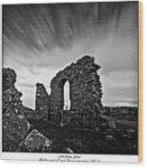 Llanddwyn Island Ruins Wood Print