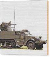 M16 Halftrack Wood Print