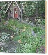 Magic Garden Pond Wood Print