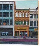 Main Street Decay 11429 Wood Print