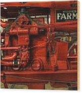 Mccormick Tractor - Farm Equipment  - Nostalgia - Vintage Wood Print