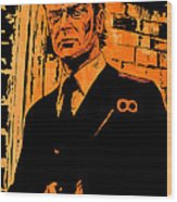 Michael Caine Wood Print by Giuseppe Cristiano
