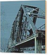 Mississippi River Rr Bridge At Memphis Wood Print