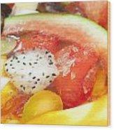 Mixed Fruit Watermelon Wood Print by Anek Suwannaphoom