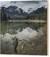 Muleshoe Pond Reflection Banff Wood Print