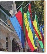 Olcott Flags  7183 Wood Print