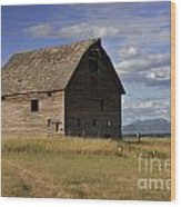 Old Big Sky Barn Wood Print