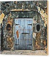 Old Wooden Doors Wood Print