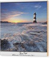 Penmon Point Lighthouse Wood Print