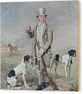 Richard Prince With Damon - The Late Colonel Mellish's Pointer Wood Print by Benjamin Marshall