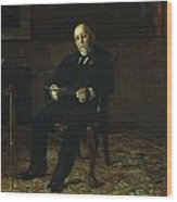 Robert M. Lindsay Wood Print by Thomas Cowperthwait Eakins