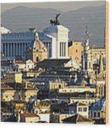 Rome's Rooftops Wood Print