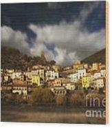 Roquebrun Wood Print by Paul Grand
