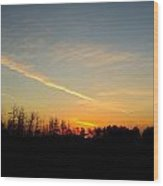 Saskatchewan Sunrise Wood Print