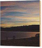 Sunset On Eagle Nest Lake Wood Print