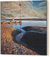 Sunset On The Marker Wood Print