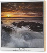 Sunset Tides Wood Print