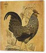 Thanksgiving Rooster Wood Print