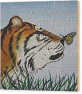 '' Tiger Colors'' Wood Print
