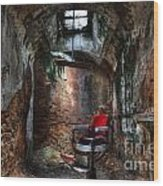 Time For A Cut- Barber Chair - Eastern State Penitentiary Wood Print